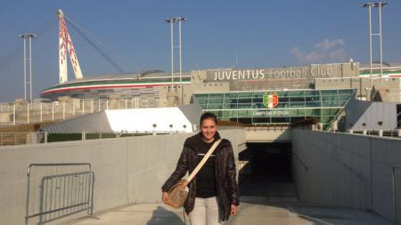Fans Juventus Donna Agnesia. - INDOSPORT