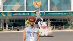 Indosport - Atlet bola tangan Irak Naser Baderaldeen yang tanding di Asian Games 2018.