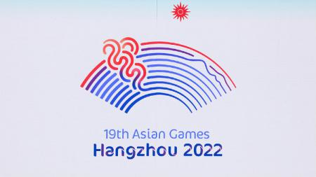 Logo Asian Games 2022 yang berlangsung di Hangzhou, China. - INDOSPORT