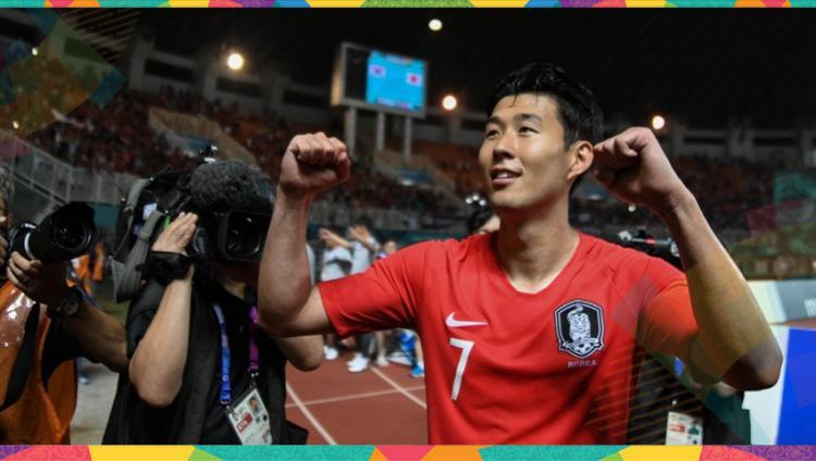 Son Heung Min pemain sepakbola Korea Selatan. Copyright: Indosport.com