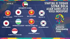 Indosport - Starting XI Terbaik Sepak Bola Asian Games 2018 versi INDOSPORT