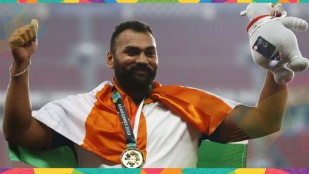 Tajinder Pal Singh Toor, atlet tolak peluru asal India peraih medali emas Asian Games 2018. - INDOSPORT