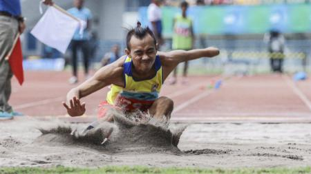 Setio Budi Hartanto, atlet lompat jauh. - INDOSPORT