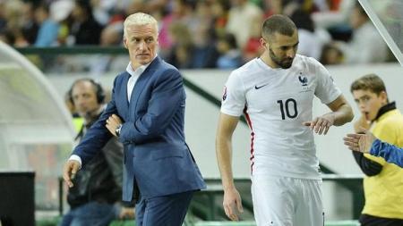 Didier Deschamps dan Karim Benzema di timnas Prancis - INDOSPORT
