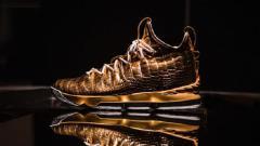 Indosport - LeBron dihadiahi sepatu mewah oleh Nike seharga 1 miliar