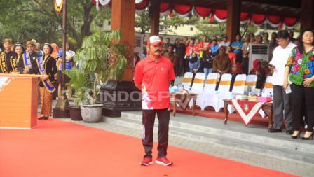 Wali Kota Surakarta FX Hadi Rudyatmo bersiap menyambut lentera Asian Para Games 2018.