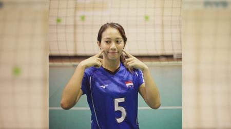 Atlet voli putri Indonesia Berllian Marsheilla. - INDOSPORT