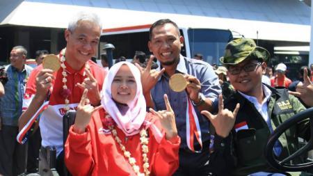 Atlet Asean Games 2018 mendapat arakan di kota Semarang. - INDOSPORT
