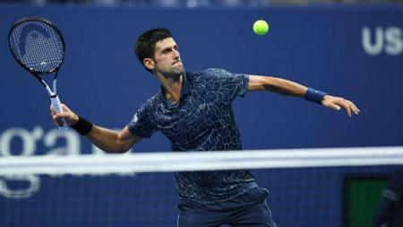 Novak Djokovic di US Open 2018. - INDOSPORT