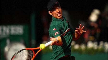 Kei Nishikori yang sedang dalam masa pemulihan cedera, kemungkinan absen di ajang Australia Terbuka 2020. - INDOSPORT