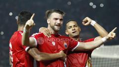 Indosport - Marko Simic saat selebrasi usai jebol gawang Selangor FA.