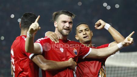 Marko Simic saat selebrasi usai jebol gawang Selangor FA. - INDOSPORT