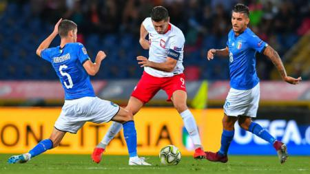 Jalannya pertandingan Italia vs Polandia. - INDOSPORT