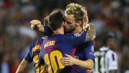 Rakitic dan Messi - INDOSPORT
