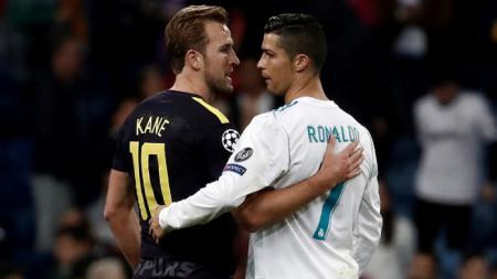 Harry Kane dan Cristiano Ronaldo di Liga Champions 2017/18. - INDOSPORT