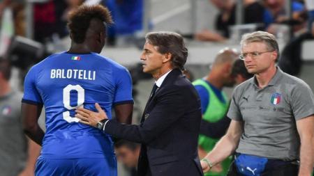 Mancini dan Balotelli - INDOSPORT