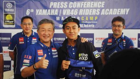 Faerozi, pembalap Indonesia yang akan mengikuti latihan balap di VR46 Academy milik Valentino Rossi. - INDOSPORT