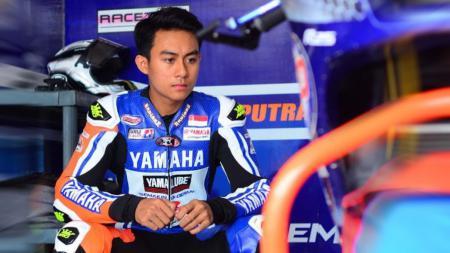 Pembalap muda Indonesia, Muhammad Faerozi berhasil naik podium ketiga kelas AP250 di ajang ARRC 2019 di Thailand. - INDOSPORT