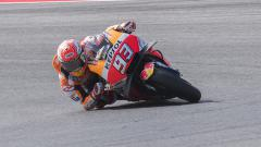 Indosport - Pembalap Repsol Honda, Marc Marquez, baru saja menyelesaikan kualifikasi MotoGP San Marino 2021 pada Minggu (19/09/21) dan, mengaku membutuhkan trek basah.
