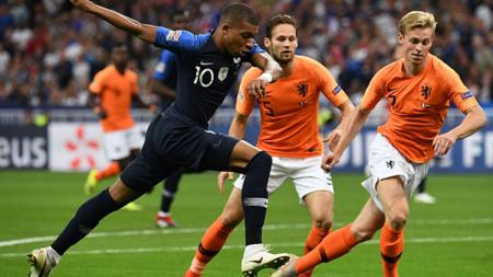 Prancis vs Belanda. - INDOSPORT