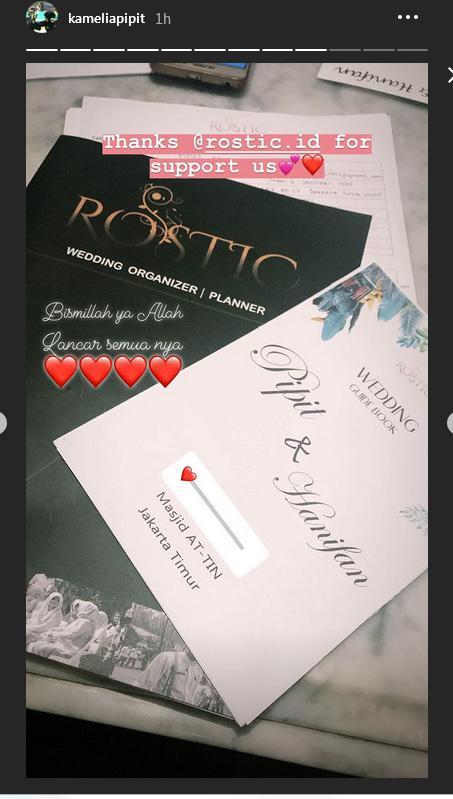 Surat undangan Pipit Kamelia. Copyright: Instastory