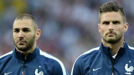 Sindiran yang dilepaskan Karim Benzema untuk Olivier Giroud menuai kecaman dari kompatriotnya di Prancis, Antoine Griezmann - INDOSPORT