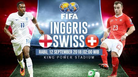 Inggris vs Swiss. - INDOSPORT