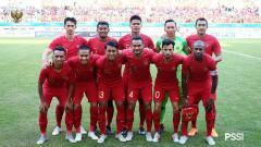 Indosport - Skuat Timnas Indonesia vs Mauritius.