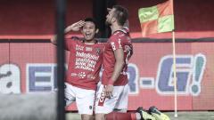 Indosport - Selebrasi Ilija Spasojevic usai membobol gawang Persela Lamongan