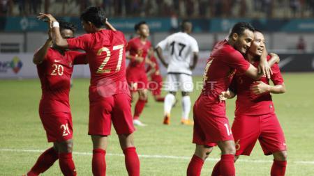 Laga Persahabatan Timnas Indonesia vs Mauritius. - INDOSPORT