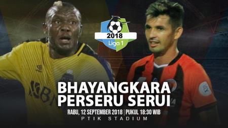 Bhayangkara FC vs Perseru Serui. - INDOSPORT