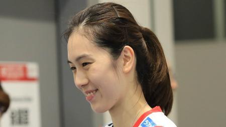 Aya Ohori dikenal sebagai pebulutangkis yang mengagumi kehebatan peraih medali emas Olimpiade Athena 2004, Taufik Hidayat. - INDOSPORT