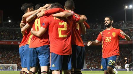 Spanyol berhasil menang telak 6-0 atas Kroasia dalam laga grup 3 UEFA Nations League. - INDOSPORT