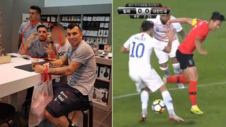 Son Heung-min membalas tindakan rasis pemain Chile dengan aksi berkelas. - INDOSPORT