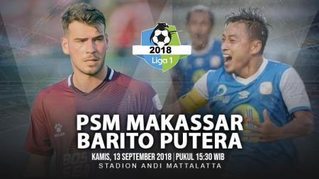 PSM Makassar vs Barito Putera. - INDOSPORT