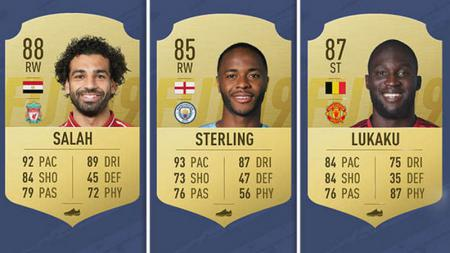 Rating Mohamed Salah, Sterling, dan Lukaku di FIFA 19 - INDOSPORT