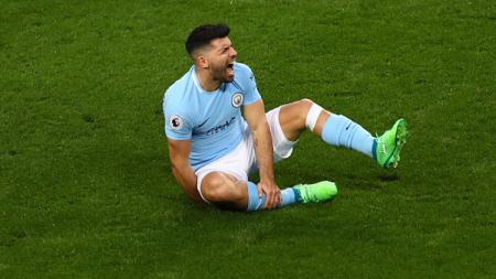 Pemain bintang Manchester City, Sergio Aguero. - INDOSPORT