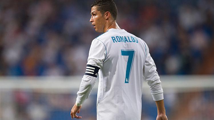 Cristiano Ronaldo pemain terakhir yang memakai nomor punggung 7 di Real Madrid sebelum Mariano Diaz. Copyright: Getty Images