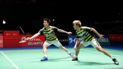 Indosport - Kevin Sanjaya/Marcus Gideon gagal melangkah ke final China Open 2018.