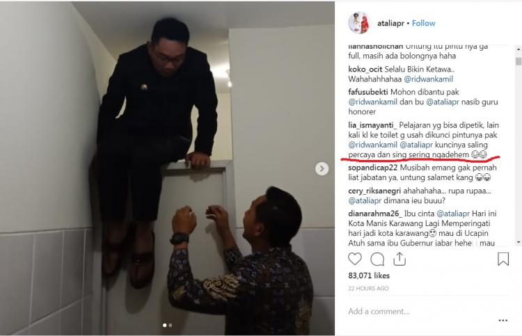 Komen netizen di unggahan akun @ataliapr. Copyright: Instagram.com/ataliapr