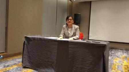 Ratu Tisha saat menghadiri acara drawing Liga 3 2018, Jumat (14/07/18) di Jakarta - INDOSPORT