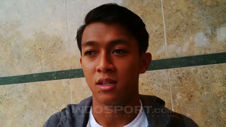 Febri Hariyadi seusai mengikuti latihan bersama Persib Bandung, Jumat (14/09/18). - INDOSPORT