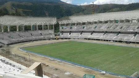 Penampakan terkini Stadion Papua Bangkit. - INDOSPORT