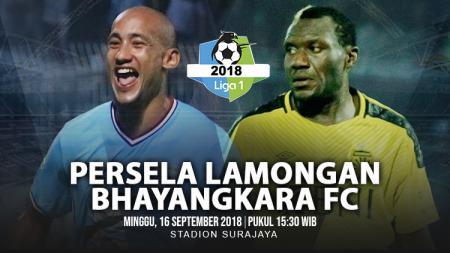 Persela Lamongan vs Bhayangkara FC. - INDOSPORT
