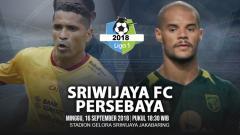 Indosport - Sriwijaya FC vs Persebaya Surabaya.