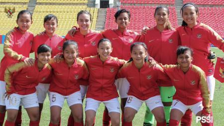 Skuat Timnas Indonesia putri U-16. - INDOSPORT