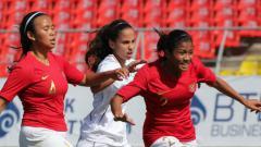 Indosport - Timnas Putri U-16 vs Palestina di Piala AFC Putri U-16 2018.