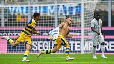 Federico Dimarco menjadi penentu kemenangan Parma atas Inter. - INDOSPORT