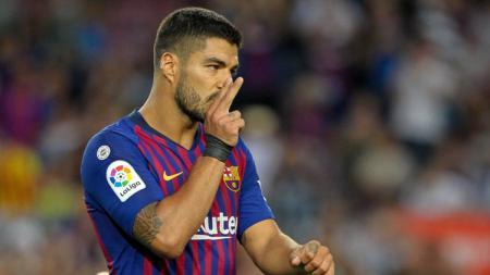Luis Suarez, striker Barcelona. - INDOSPORT