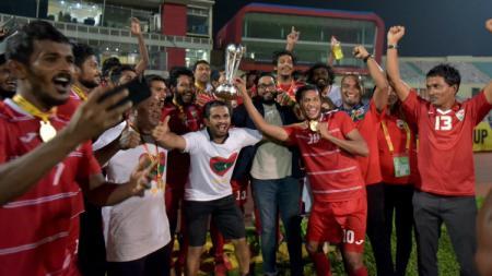 Timnas Maladewa Berhasil Meraih Juara SAFF 2018. - INDOSPORT